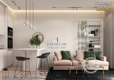 Góc decor đẹp: Nội thất căn hộ mini 60m2 tại Hà Nội cho vợ chồng trẻ – LV 03205