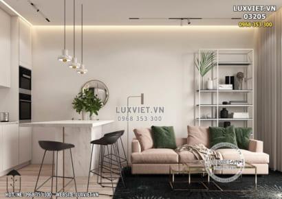 Hình ảnh: Thiết kế nội thất chung cư mini 60m2 tại Hà Nội - LV 03205