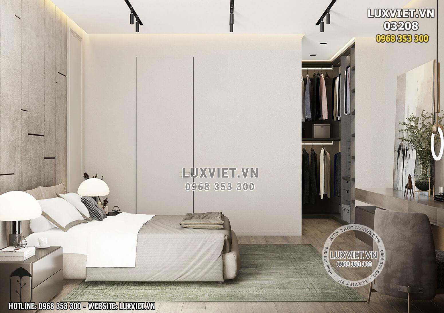 Hình ảnh: Phòng ngủ căn hộ hiện đại - LV 03208