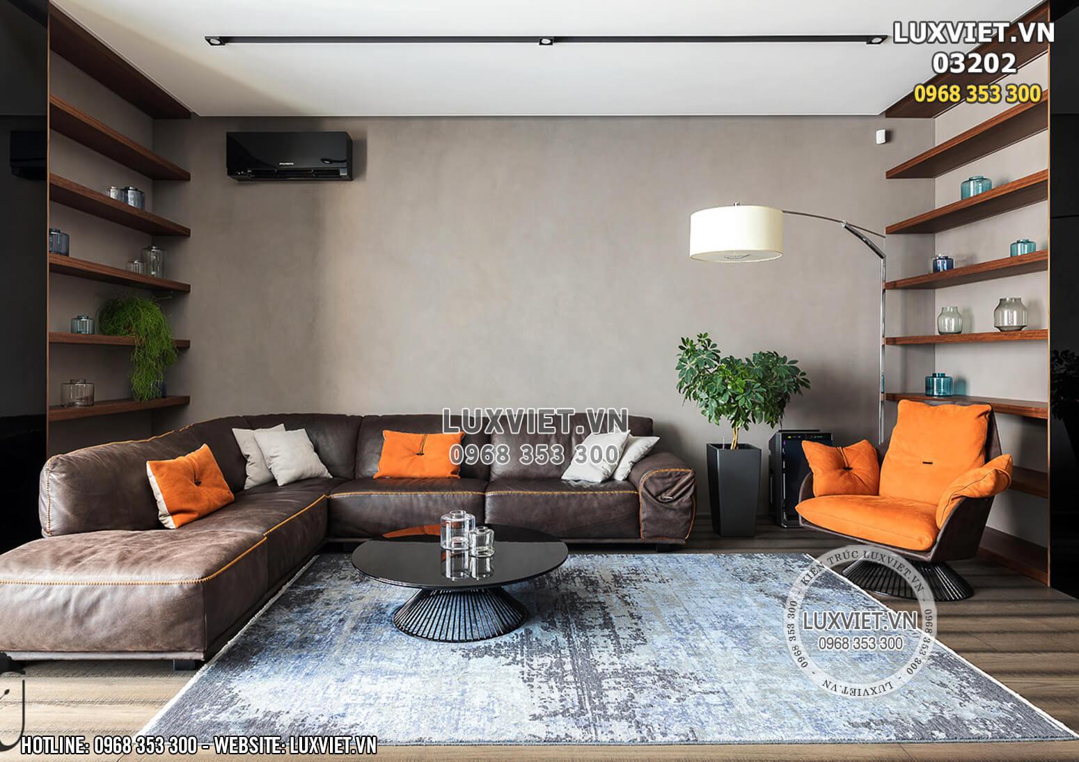 Hình ảnh: Thiết kế nội thất phòng khách chung cư hiện đại - LV 03202