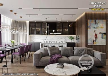 Thiết kế nội thất chung cư hiện đại và sang trọng – LV 03203