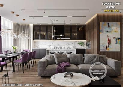 Hình ảnh: Thiết kế nội thất chung cư hiện đại - LV 03203