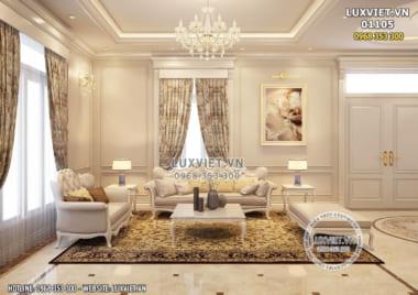 Mẫu nhà đẹp: Thiết kế nội thất tân cổ điển – LV 01105