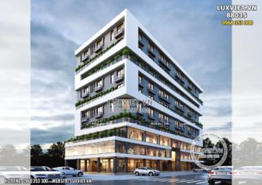 Góc sáng tạo: Thiết kế văn phòng – khách sạn hiện đại tại Thanh Hóa – LV 88035