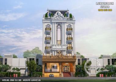 Thiết kế tòa nhà văn phòng kết hợp ở và kinh doanh 5 tầng 1 tum – LV 65108