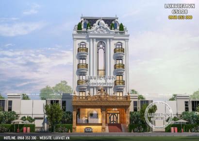 Thiết kế tòa nhà văn phòng kết hợp ở và kinh doanh 5 tầng 1 tum - LV 65108