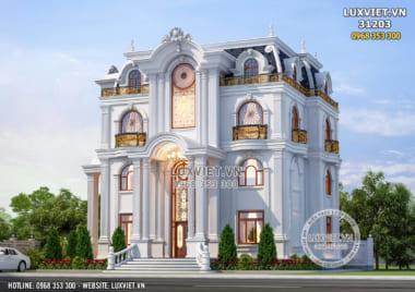 Biệt thự tân cổ điển 3 tầng đẹp với phong cách nhẹ nhàng – LV 31203