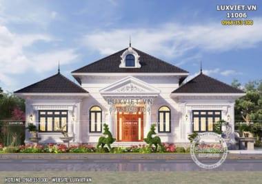 Bản vẽ nhà 1 tầng tân cổ điển đẹp – LV 11006