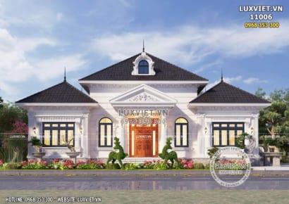 Hình ảnh: Bản vẽ nhà 1 tầng tân cổ điển đẹp - LV 11006