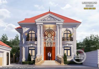 Mẫu biệt thự tân cổ điển 2 tầng đẹp tại Kiên Giang – LV 20110