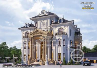 Dinh thự 4 tầng tân cổ điển đẹp và quý phái – LV 40109