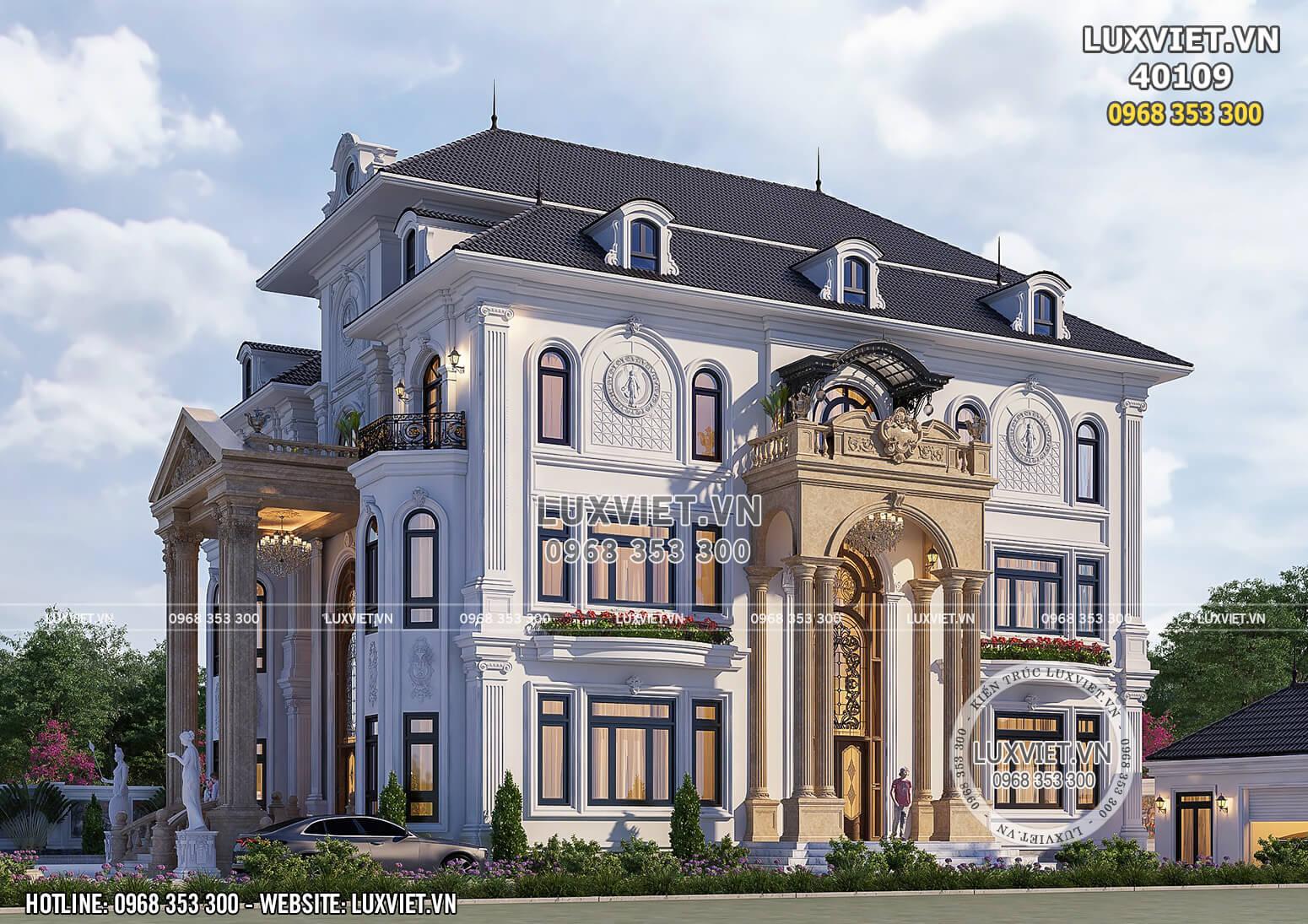Hình ảnh: Biệt thự đẹp và sang trọng 4 tầng - LV 40109