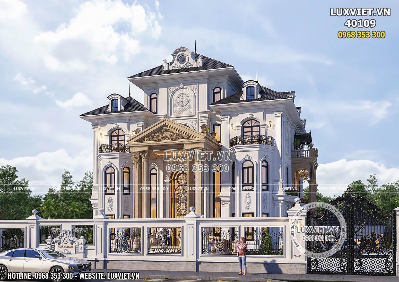 Hình ảnh: Mẫu thiết kế biệt thự đẹp - LV 40109