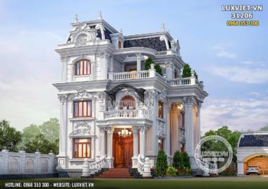 Thiết kế biệt thự tân cổ điển Pháp 3 tầng đẹp đẳng cấp – LV 31206