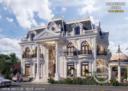 Hình ảnh: Biệt thự 2 tầng 1 tum tân cổ điển - LV 40108