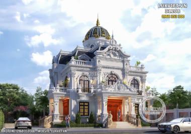 Biệt thự lâu đài 2 tầng 1 tum tân cổ điển đẹp 150m2 tại Hà Nội – LV 31208