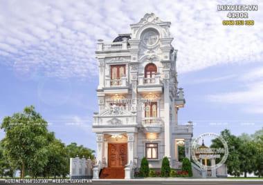 Biệt thự tân cổ điển 4 tầng đẹp mặt tiền 9m – LV 41302