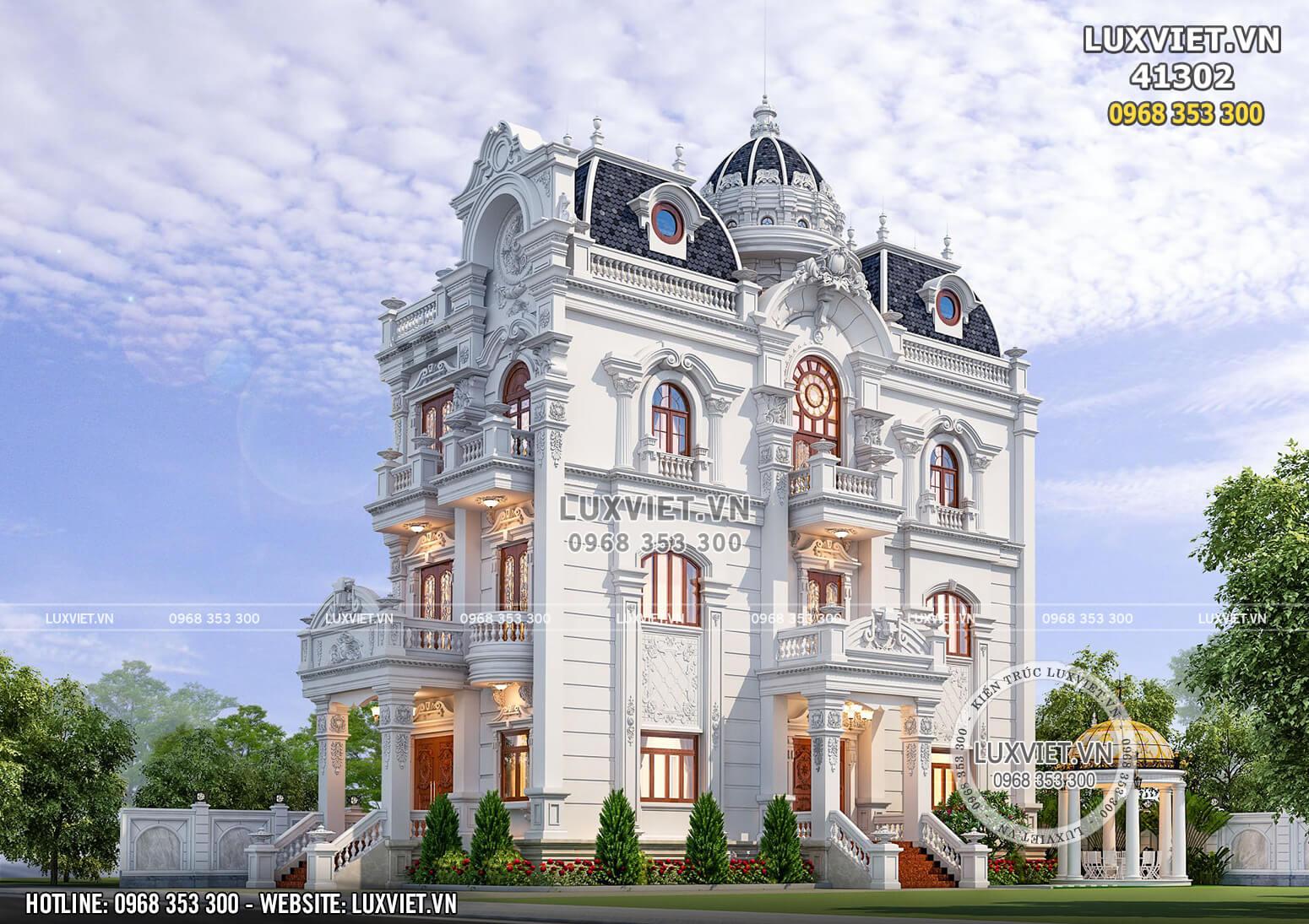 Biệt thự tân cổ điển 4 tầng đẹp mặt tiền 9m - LV 41302