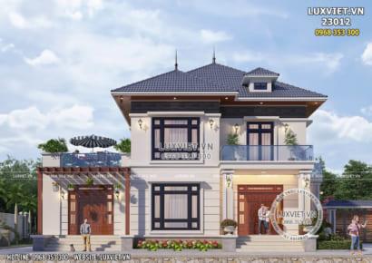 Hình ảnh: Mẫu nhà 2 tầng đẹp hiện đại đơn giản - LV 23012