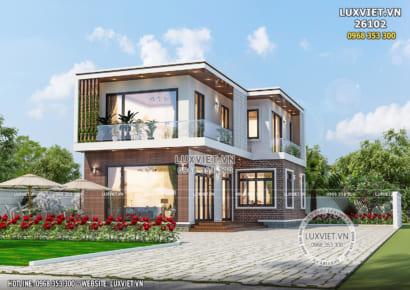 Hình ảnh: Mẫu nhà 2 tầng hiện đại đơn giản đẹp tại Hà Tĩnh - LV 26102