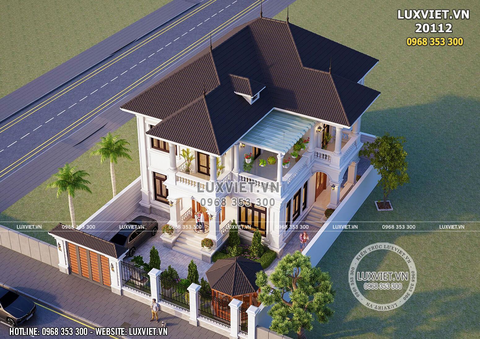 Mẫu nhà 2 tầng tân cổ điển đẹp 150m2 4 phòng ngủ - Mã số: LV 20112