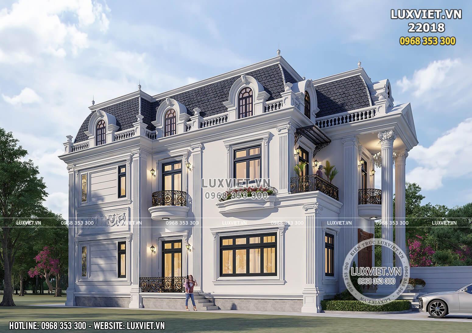 Một góc view đẹp mẫu thiết kế nhà tân cổ điển Pháp xa hoa