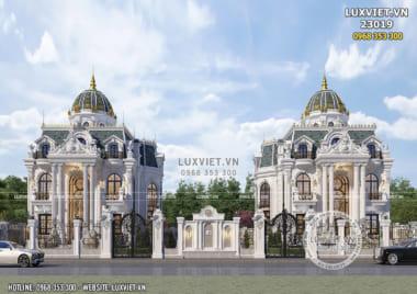 Biệt thự song lập tân cổ điển 2 tầng 1 tum lộng lẫy và xa hoa – LV 23019