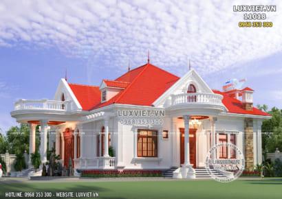 Hình ảnh: Mẫu thiết kế biệt thự vườn 1 tầng tân cổ điển đẹp 350m2
