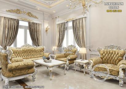 Hình ảnh: Không gian phòng khách của mẫu thiết kế nội thất tân cổ điển