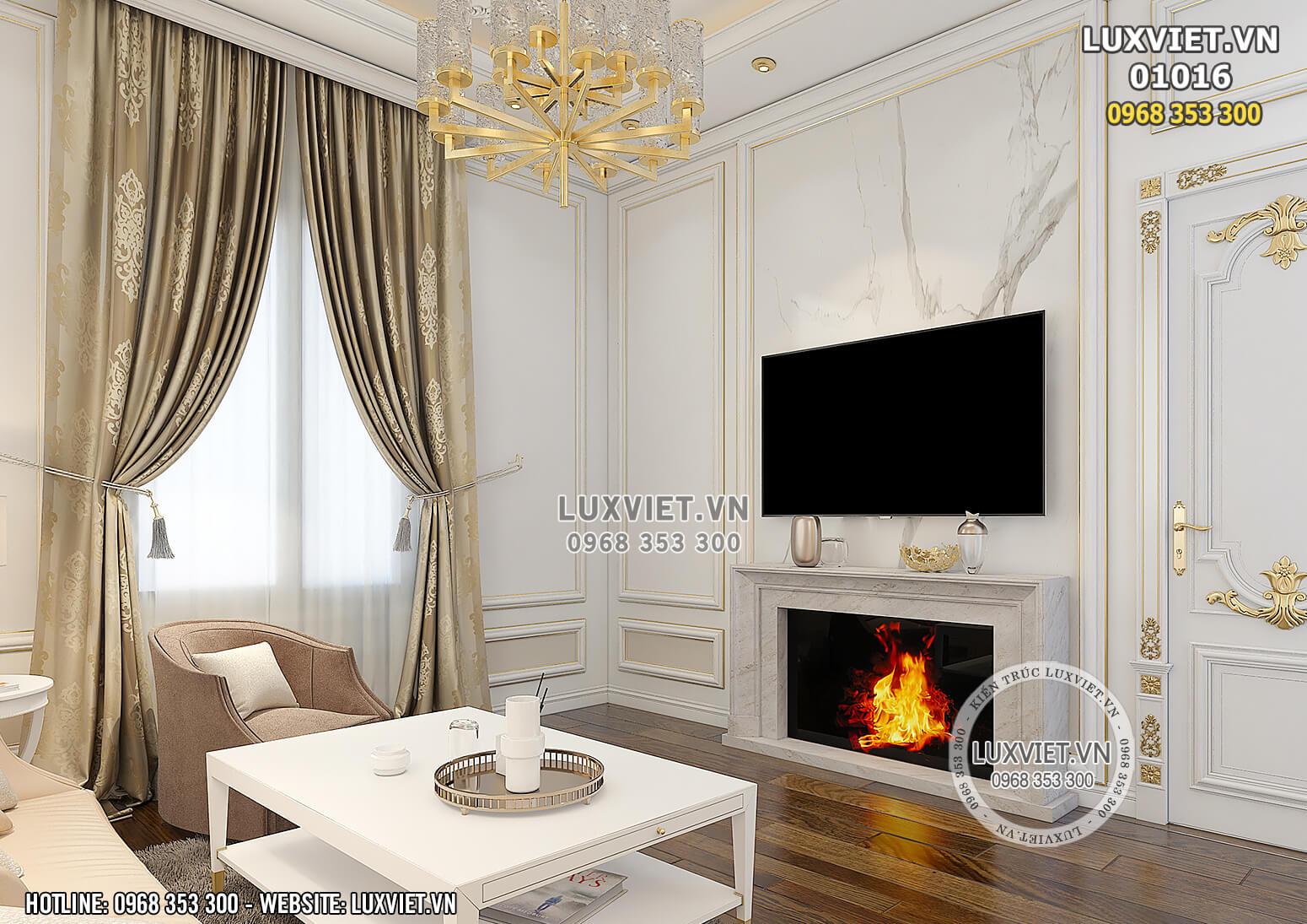 Hình ảnh: Không gian khu vực phòng sinh hoạt chung của mẫu thiết kế nội thất đẹp