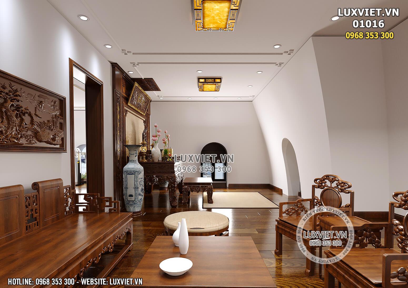 Hình ảnh: Không gian khu vực phòng thờ của mẫu thiết kế nội thất tân cổ điển đẹp 2