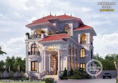 Thiết kế dinh thự 3 tầng tân cổ điển nhẹ nhàng và thanh lịch – LV 31209