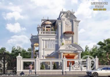 Thiết kế biệt thự 3 tầng mái Mansard tân cổ điển đẹp _ Mã số: LV 32115
