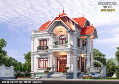 Hình ảnh: Biệt thự Pháp 2 tầng đẹp hoàn mỹ tại Hà Tĩnh - LV 23108