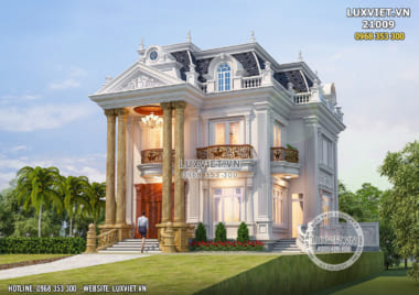 Biệt thự 2 tầng 1 tum đẹp nhất năm 2020 – LV 21009