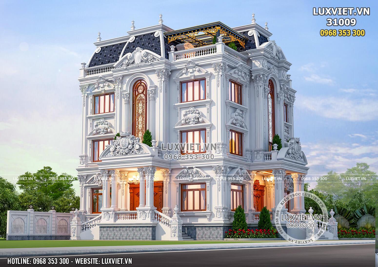 Hình ảnh: Chiêm ngưỡng mẫu thiết kế biệt thự 3 tầng đẹp và lộng lẫy - LV 31009