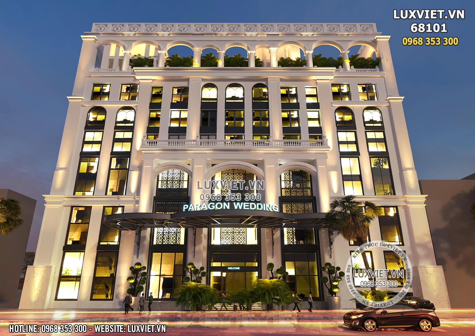 Hình ảnh: Không gian ngoại thất của mẫu thiết kế khách sạn 4 sao tân cổ điển