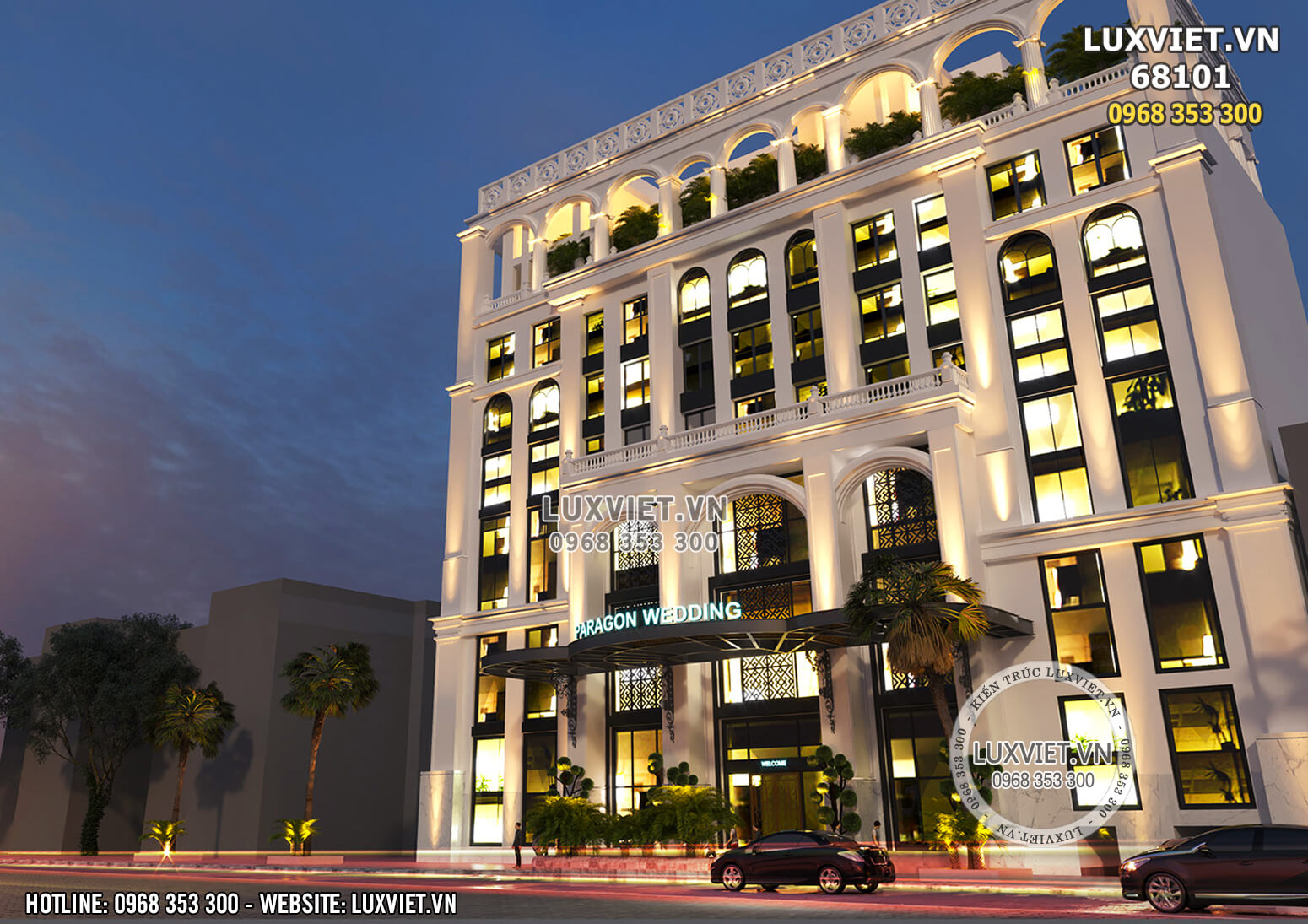 Hình ảnh: Thiết kế khách sạn 4 sao đẹp tân cổ điển