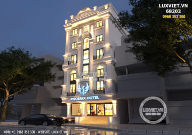 Thiết kế khách sạn tân cổ điển mặt tiền 10m – LV 68202