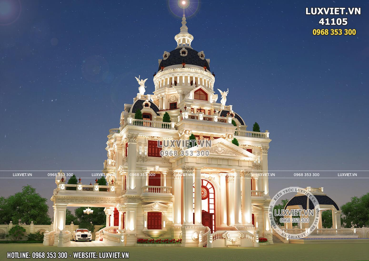 Hình ảnh: Mẫu thiết kế lâu đài 4 tầng đẹp hoàn mỹ - LV 41105