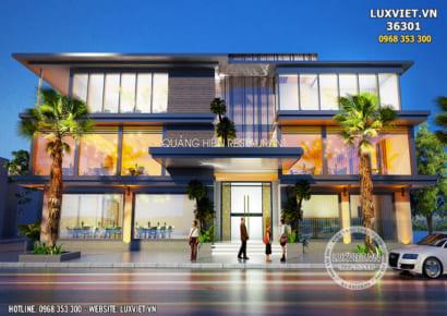 Hình ảnh: Không gian ngoại thất của nhà hàng đẹp 3 tầng hiện đại