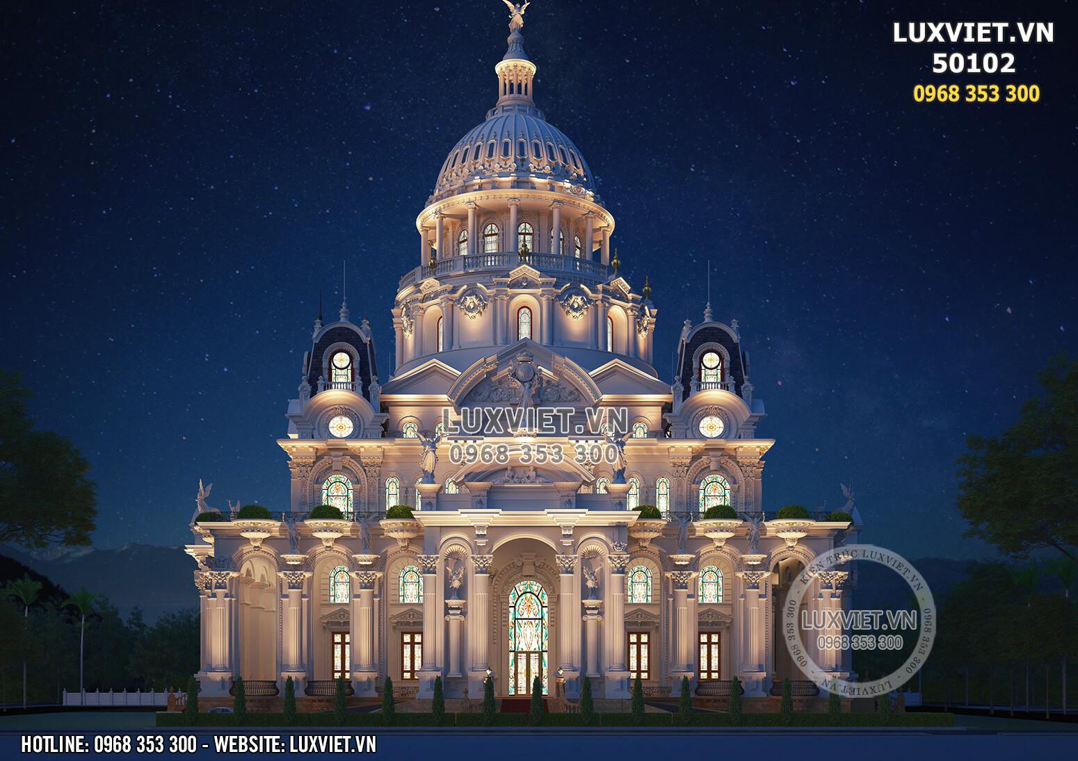Hình ảnh: Thiết kế siêu lâu đài dinh thự lớn nhất Việt Nam - LV 50102