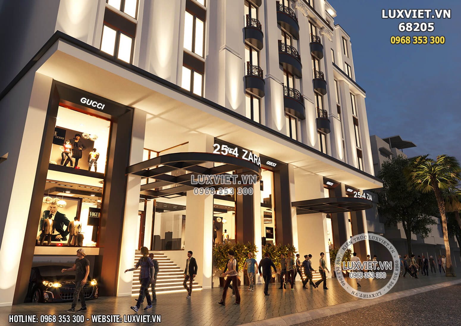 Hình ảnh: Cận cảnh tòa nhà cho thuê phong cách hiện đại và quyền lực - LV 68205