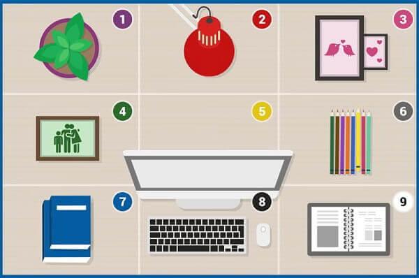 Hình ảnh: Nguyên tắc sắp xếp bàn làm việc theo phong thủy với các món đồ vật