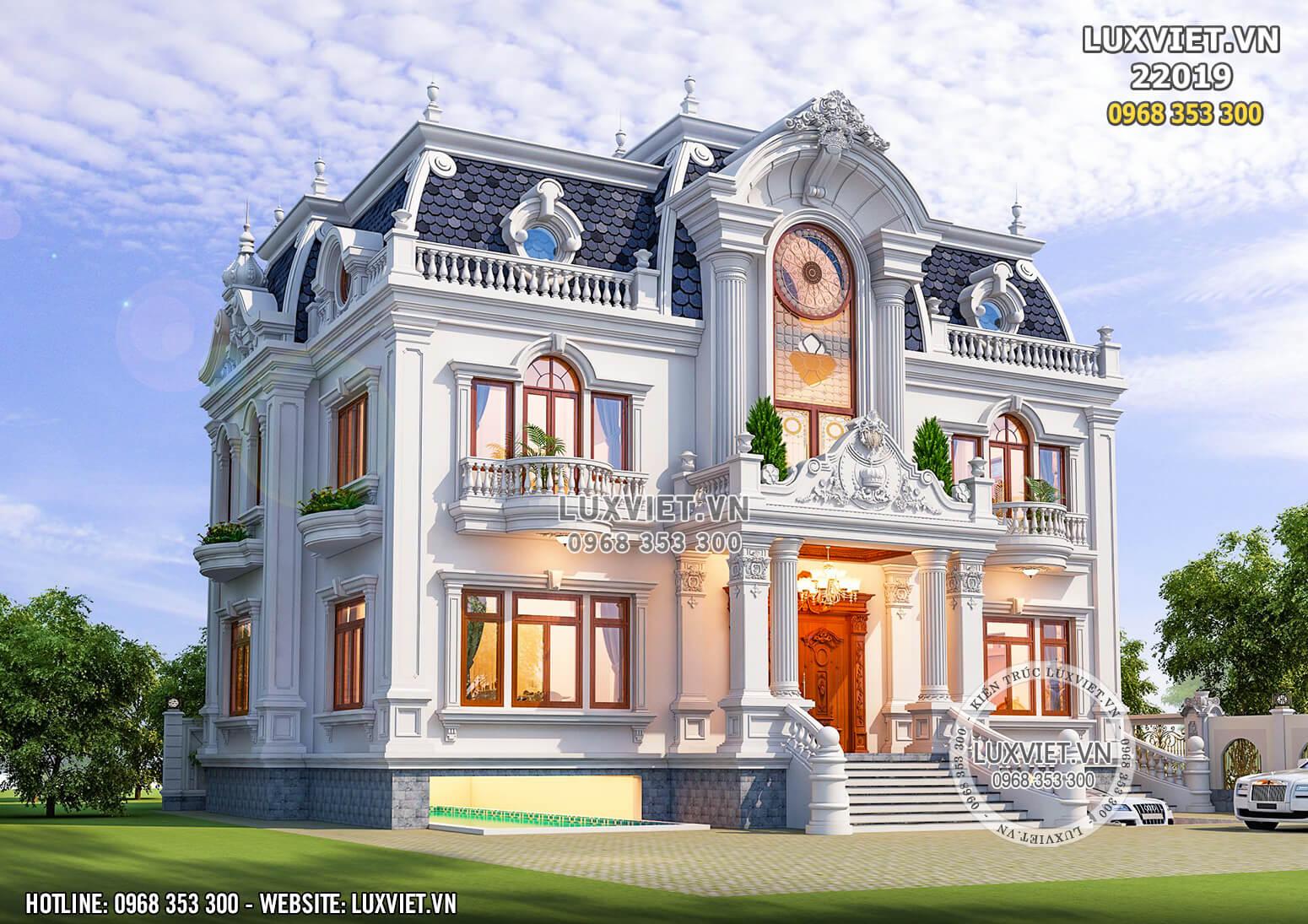 Hình ảnh: Giải pháp kiến trúc cho mẫu biệt thự 2 tầng tân cổ điển tại LUXVIET - LV 22019