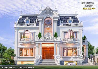 Hình ảnh: Mặt tiền của mẫu biệt thự 2 tầng tân cổ điển đẹp - LV 22019