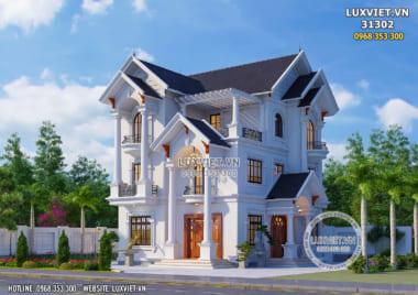 Mẫu thiết kế biệt thự 3 tầng mái Thái đẹp 150m2 – LV 31302