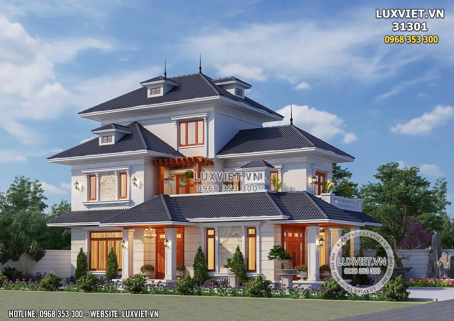 Hình ảnh: Chiêm ngưỡng vẻ đẹp nổi bật của mẫu nhà 2 tầng mái Nhật - LV 31301