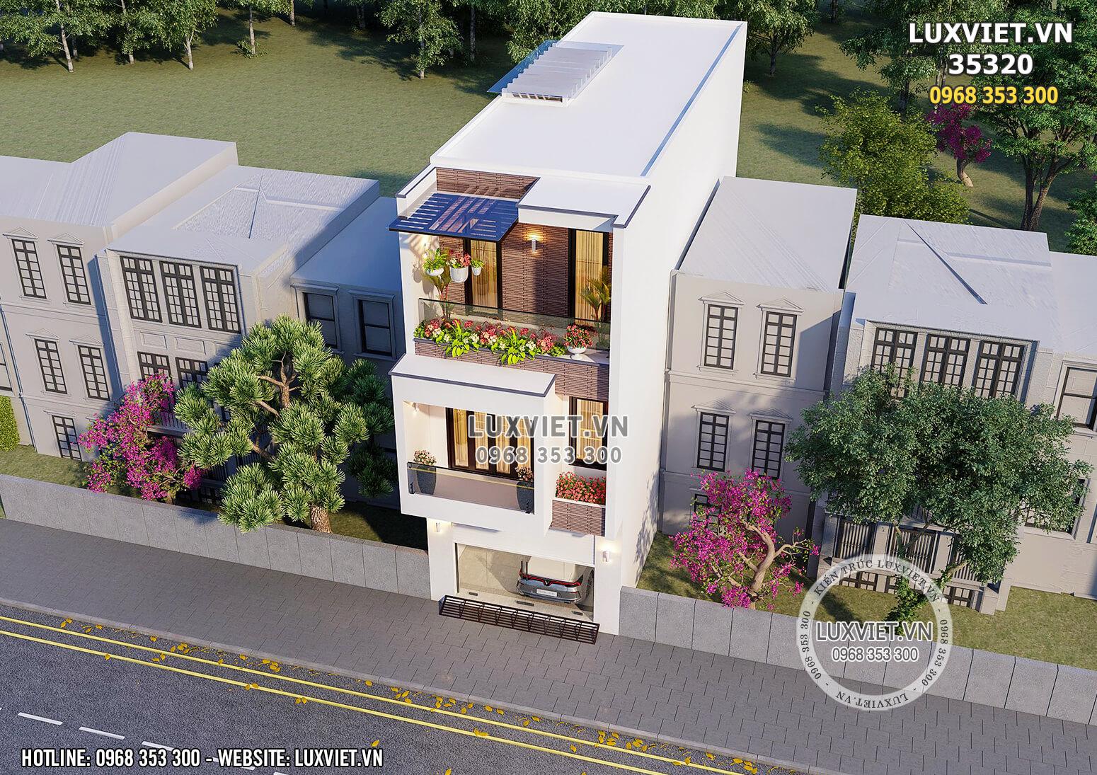 Toàn cảnh mẫu thiết kế nhà 3 tầng hiện đại