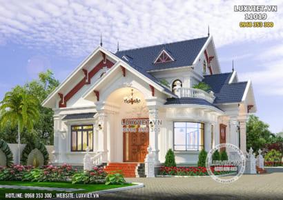 Hình ảnh: Vẻ đẹp khiến nhiều chủ đầu tư siêu lòng với thiết kế biệt thự 1 tầng tân cổ điển đẹp